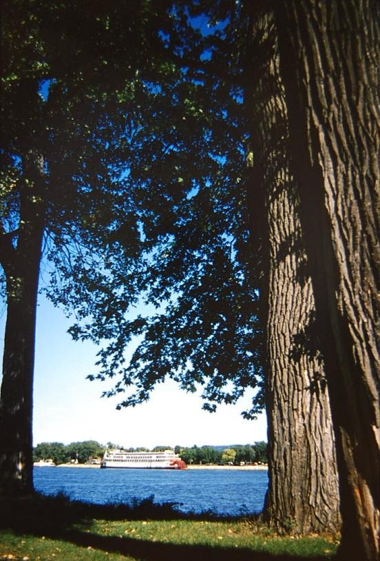 A view of the Mississippi river from