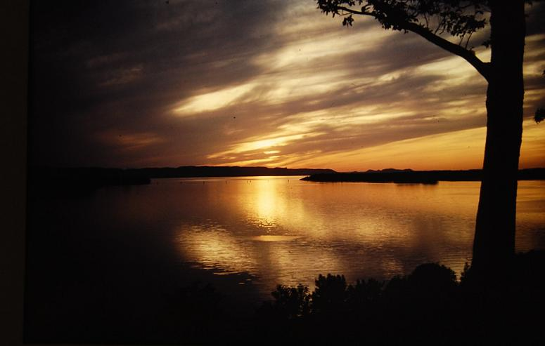 A view of Lake Onalaska at sunset